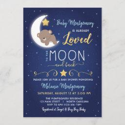 Baby Shower Love You The Moon And Back Invitation