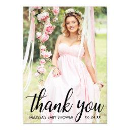 Baby Shower Modern Thank You Photo