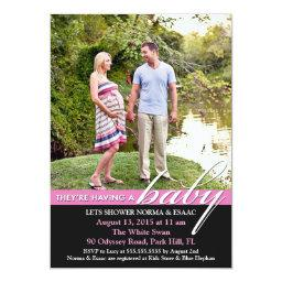 Baby Shower Photo Flat Invitations