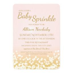 Baby Shower Pink and Gold Sparkle
