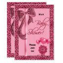 Baby Shower Pink Cheetah Print Invitations