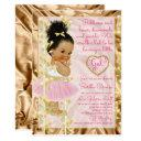 Baby Shower Pink & Gold Invitation