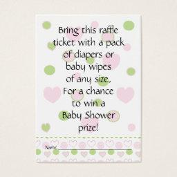 Baby Shower Raffle Ticket/Sugar and Spice