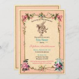 Baby Shower Tea Party Pink Sip And See Invitation