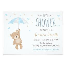 Baby Shower Teddy Bear  Baby Boy Blue