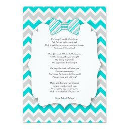 thank you notes with poem turquoise