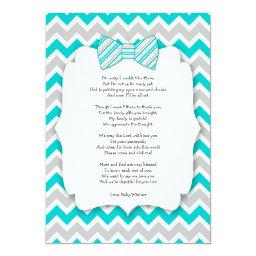 Baby Shower Thank You Notes With Poem Turquoise
