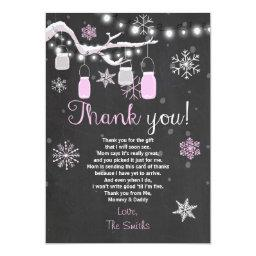 Thank you Winter Baby girl pink