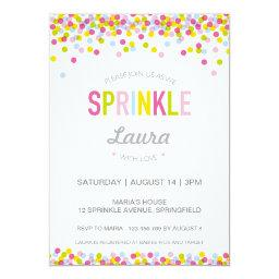 Baby Sprinkle Invitation, Bright Colours