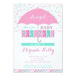 Baby Sprinkle Invitations / Umbrella Invitations