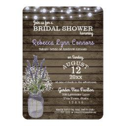 Baby's Breath and Lavender Rustic Baby Shower