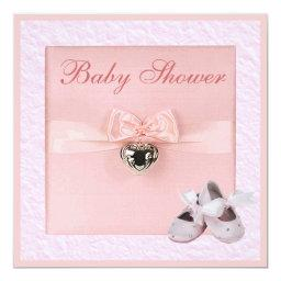 Ballet Shoes & Locket Girls Pink Baby Shower Invitations