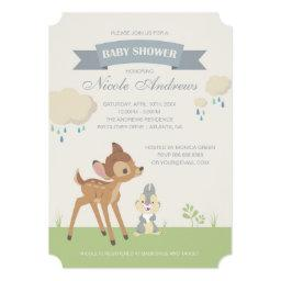 Bambi | Neutral Baby Shower Invitation