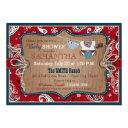 Bandanna Print Cowboy Baby Shower Invitations