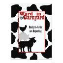 Barnyard Baby Shower Invitation