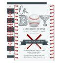 Baseball Baby Shower Oh Boy Invitation