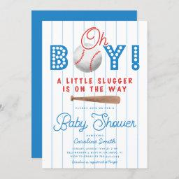 Baseball Baby Shower Sports Theme Invitation