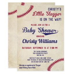 Baseball Themed Baby Shower Invitation Invitations