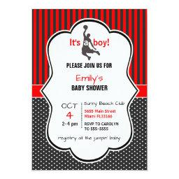 Basketball Baby Shower Invitation Invitations