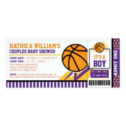 Basketball Couples Baby Shower Invitation