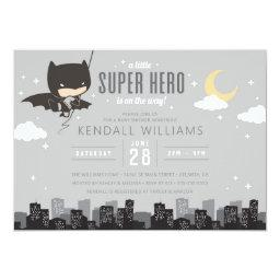 Batman Super Hero Baby Shower Invitation