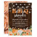 Bbq Baby Couples Shower | Fall Babyq Barbecue Invitation