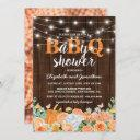 Bbq Baby Couples Shower   Fall Babyq Barbecue Invitation