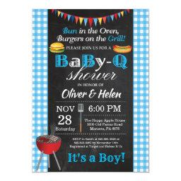 Bbq Baby Shower Invitation Babyq Barbecue