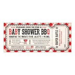 BBQ Baby Shower Ticket Diaper Raffle