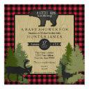 Bear Woodland Forest Lumberjack Plaid Baby Shower