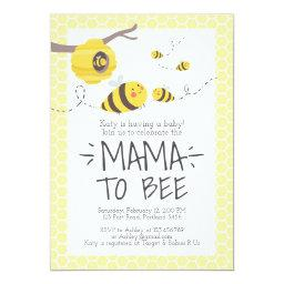 Bee Baby Shower Invitations Honey Comb Bumble Bee
