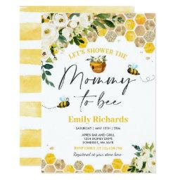 Bee Baby Shower Invitation Yellow Mommy To Bee