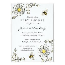 Bee Baby Shower Invitationss For Bumble Bee Shower