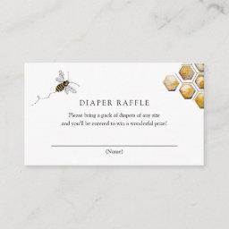 Bee Diaper Raffle Insert Card