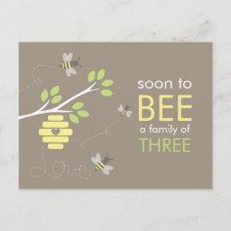 Bee Family Baby Shower Invitation