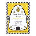 Bee Hive Baby Shower/birthday Invitations