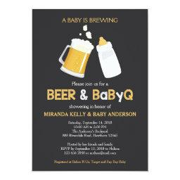 Beer & BabyQ Baby Shower , Bbq Invite