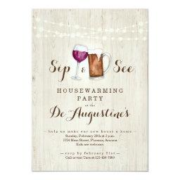 Beer & Wine Sip And See Housewarming Party Invitation