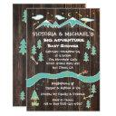 Big Adventure Rustic Mountain Folk Art Baby Shower Invitation