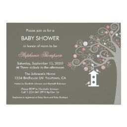 Birdhouse Swirls Invitations