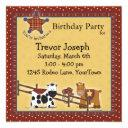 Birthday, Shower Or Party Western Party Invitation