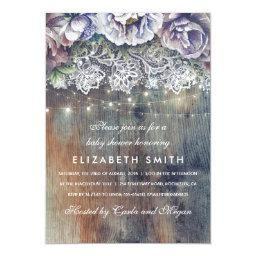 Blue and Maroon Rustic Floral