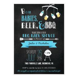 Blue Babies, Beer & BBQ Baby Shower