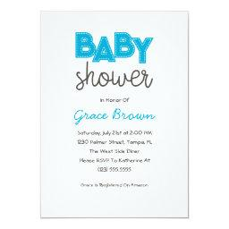 Blue Boy Baby Shower Invitation