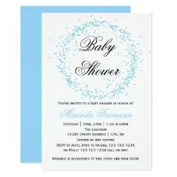 Blue Confetti - 3x5 Baby Shower