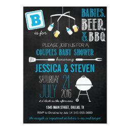 Blue Couples Baby Shower BBQ