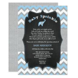 Blue elephant baby sprinkle, boy baby shower