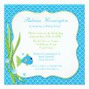 Blue Fish Baby Shower Invitations