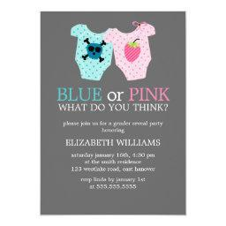 Blue or Pink? Baby Outfits Gender Reveal Party