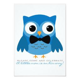 Blue Owl with Bow Tie